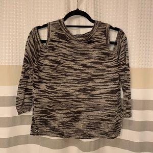 Express Marled Cold Shoulder Sweater